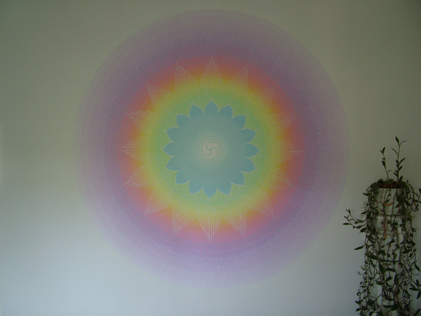 Mandala murals painted by barry stevens for Mural mandala